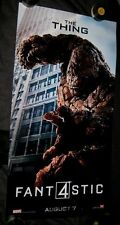 Original FANTASTIC FOUR Styrene Phone Booth Poster THE THING Jamie Bell