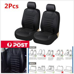 2 Pcs Car Front Seat Cover Cushion Protector Comfortable PU Leather Four Season