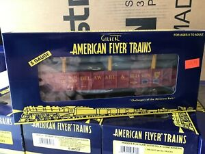 American Flyer 6-48541 Delaware & Hudson Gondola w/ 6 Pipe Load S Scale, NIB nos