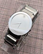 Swiss Movado Sapphire Mirror Dial Stainless Steel Model # 0606093 Men's Watch