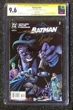 9.6 CGC SS BATMAN # 619 2nd print cover variant signed X 3 Loeb Jim Lee Williams