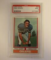 1974 Topps Football Card #22 Paul Guidry Houston Oilers PSA 8