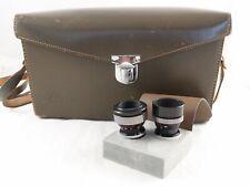 Leica Leitz Wetzlar Dygon 1:2/36 + 1:2/9 + Hood + Filter UV + Case for Leicina