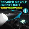 USB Rechargeable Bike Front Light Horn Bicycle LED HeadLight Cycling Lamp 140dB