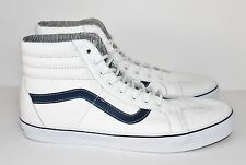 Vans SK8-Hi Reissue Leather White Stripes Men's Size 8