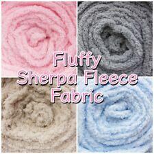 Super Soft Fluffy Sherpa Fleece Plain Lambswool Blanket Craft Fabric Material