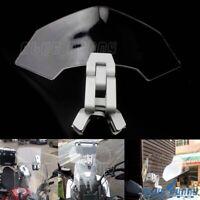 Adjustable Clip On Screen Windshield Extension Spoiler Air Deflector For Honda