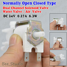 Open Closed Type Dual Channel Solenoid Gas/Air/Water Valve Discouraged DC 24V