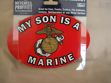 MY SON IS A MARINE OVAL AUTO MAGNET