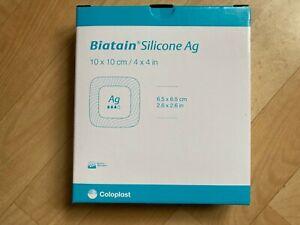 Biatain Silicone Ag Schaumverband 10 x 10 cm / Coloplast / 4 Stück