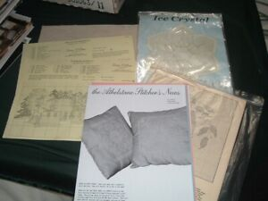 Vtg 70s Estate Lot Cross Stitch Charts Needlework Needlepoint Aida Patterns #LK7