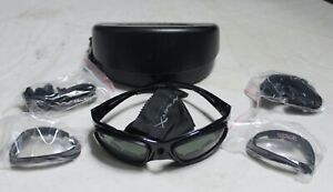 NWOT WILEY X SG-1 SUNGLASSES/GOGGLES CLEAR & SMOKE LENSES HARD CASE