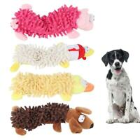 Plush Dog Puppy Pet Squeaker Toys Squeaky Funny Sound Play Mop Chew Toy