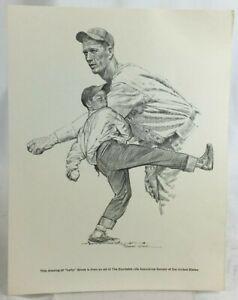 Lefty Grove 60s 7x9 Print Robert Riger Drawing Equitable Life Boston Red Sox MLB