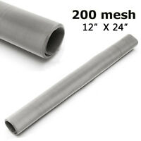 "Sale 200 Mesh 75 Stainless Steel Woven Wire Cloth Screen Filter Sheet 12x24"" Z"