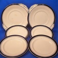 Booths Crown Border 2 x Cake Plates + 4 x Side Plates - Vintage & Rare 1920s VGC