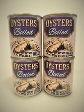 4-PACK: Boiled Oysters by the can, canned fresh - Gourmet ready for use seafood