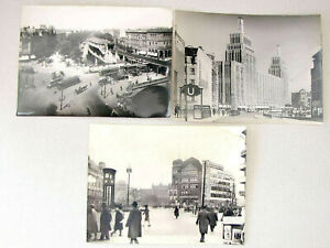 3 Bauhaus Orig. photos Berlin, Hamburg. Germany, 1930's signed Size: 18 x 24 cm.