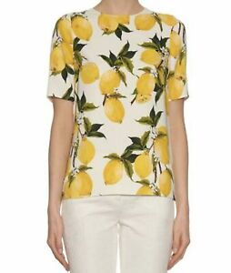 Dolce & Gabbana Top with Lemon Print in size IT 44