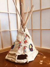 Antique Early 20thc Native American Beaded and Quilled TeePee Probably Sioux