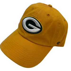 Green Bay Packers '47 Brand Adult Adjustable Strapback Cap Hat Yellow Green New