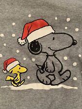 Baby Gap Toddler Holiday Pjs Pajama 4T Two-piece Set Peanuts Snoopy Stripe Gray