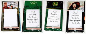 Nostalgic-Art - NOTIZBLOCK-BLECHSCHILD - Magnetic-Notepad - Viele Motive - NEU