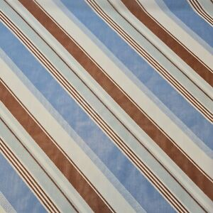 "Soft Crepe Pastel Stripe Print Dress Craft Drape Material Fabric 44"" By Meter ST"