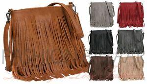 Women's Fringe Messenger Shoulder Tassel Bag Handbag Ladies Crossbody Bag New