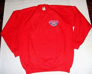 Cleveland Indians 2007 Postseason Playoffs Red Mens Large Sweatshirt 100% Cotton