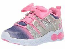 Stride Rite Size 9M Kids Katie Girl's Light-up Mesh Athletic Sneaker, Pink, LN