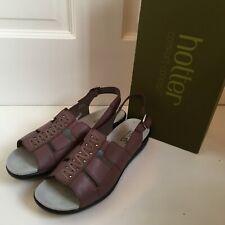 HOTTER Candice Sandals Purple Leather Womens Size UK 7 EUR 41 Comfort Shoes