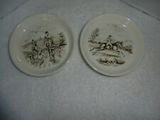 Two Copeland Spode England Small Dishes Hunt scene.