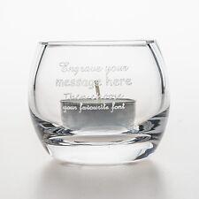 Personalised Glass Tea Light Holder Gift For Mum/Nan/Nanna/Nanny/Gran Birthday