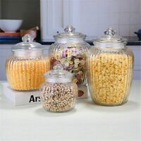Sealed Glass Cans Food Jar Kitchen Cereals Grain Container Storage Bottles Jars