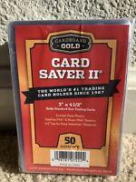 50 Count Cardboard Gold Card Saver 2 II Semi-Rigid Holder PSA/BGS Ships Fast NOW