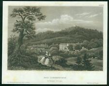 155 Jahre alter Stahlstich der BAD LIEBENSTEIN