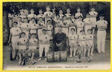 cpa CONNERRÉ (Sarthe) FANFARE Petits TAMBOURS CONNERRÉENS Section Concours 1937