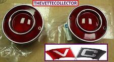 Corvette 75-79 Tail Light Red PAIR 76 77 78 GM Lens (2) Lenses