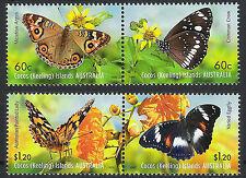 Australien Kokos-inseln Cocos 2012 Mi# 488-91 ** MNH Schmetterlinge BUTTERFLIES