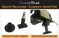 Weaver Rail - Camera Adapter with weaver rail base - Screw on and Quick Release