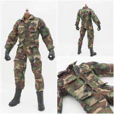 """1/6 Scale Camouflage Uniform Jacket Camo Jumpsuit For 12"""" Soldier Action Figure"""