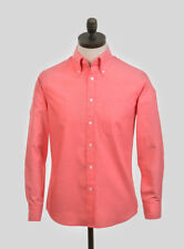 Art Gallery Clothing - Long Sleeve Fitted Shirt - Coral XXXL  Mod Sixties