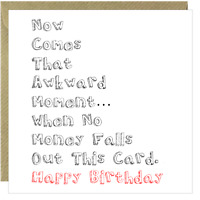Funny Birthday Card Rude Cheeky Brother Sister Mum Son Daughter Dad Wife /AC