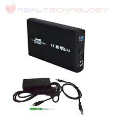 """CASE BOX ESTERNO 3,5 SATA USB 3.0 PER HARD DISK 3,5"""" ALLUMINIO Linq U3-3506"""