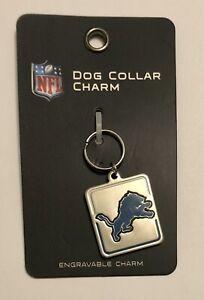 Detroit Lions Metal Pet Collar Charm [NEW] NFL Dog Cat Leash Chain Engrave