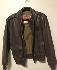 COOPER TYPE A-2 USAF Mens USA Made Leather Bomber Flight Jacket Coat Size 40R sh