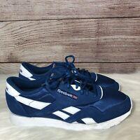 Reebok Classic Nylon CL CN3267 Mens Blue Nylon Low Top Sneakers Shoes Size 9