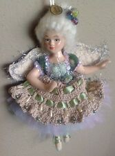 Katherine's Collection Angel Ballerina Green Fairy Doll Ornament