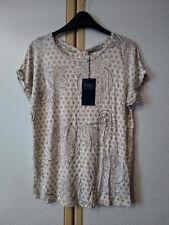 M&S Natural Colour Paisley Print Short Sleeve T-Shirt Size 10 BNWT RRP £25